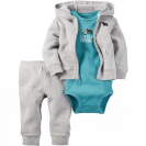 Baby Boys' 3 Piece Cardigan Set