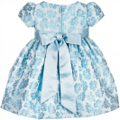 Baby Girls Brocade Dress with Diamante