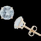 Round Birthstone Stud Earrings