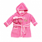Spasilk Hooded Terry Bathrobe with Booties