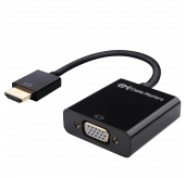 Cable Matters® Gold-Plated Active HDMI to VGA Adapter (Male to Female) with 3 Ft Micro USB Cable