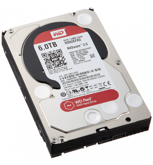 Western Digital Red 6 TB NAS Hard Drive 1 to 8-Bay 3.5-inch SATA 6 IntelliPower 64MB Cache Internal Bare or OEM Drives WD60EFRX